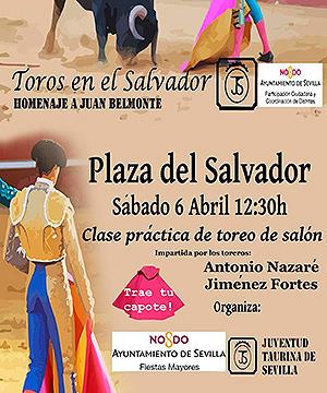 Cartel Toros en la plaza del Salvador