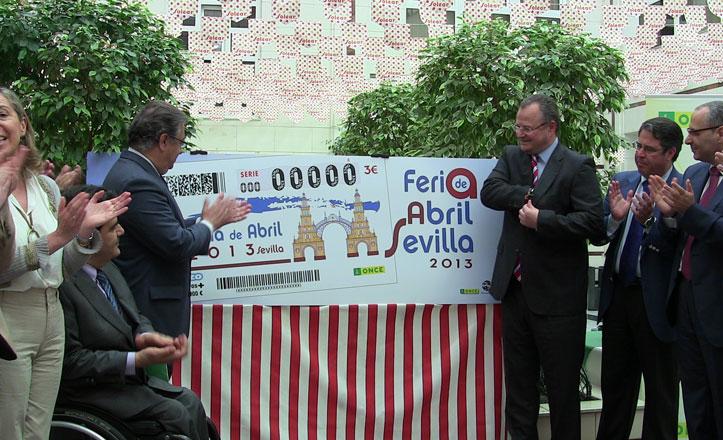 La ONCE dedica el Cuponazo a la portada de la Feria de Sevilla