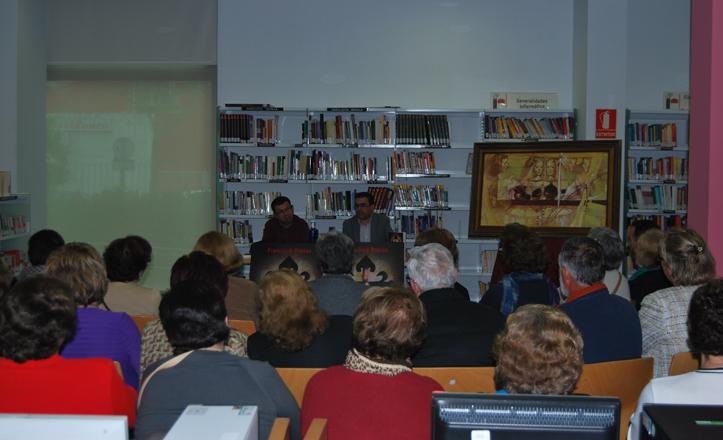 Francisco Robles durante su charla