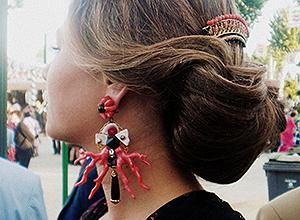 Detalle de una flamenca
