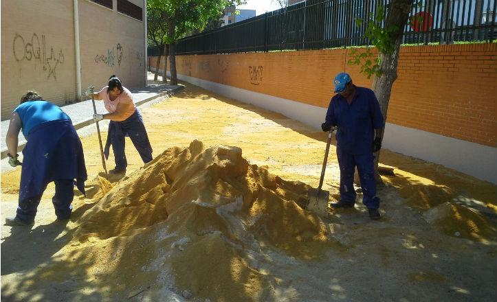 Obras en el colegio Joaquín Turina