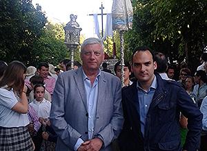 Rafael Belmonte en la Cruz de la Misión
