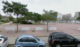 Parque frente a Santa Justa