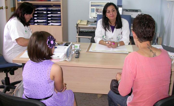 Una de las consultas de la Unidad de Alergia