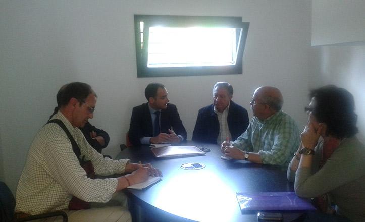 Belmonte asistió ayer a una reunión de la directiva de Jardines de Hércules