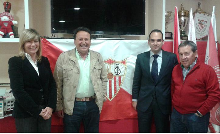 Rafael Belmonte en la Peña Sevillista de Bellavista