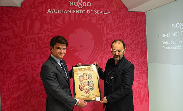 Beltrán Pérez y José María Roca, en la presentación de «La venganza de Don Mendo»