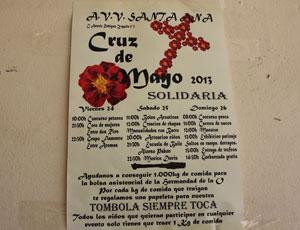 Cruz de mayo asociación de vecinos Santa Ana