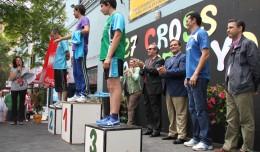 El podio del 27 Cross San Pelayo