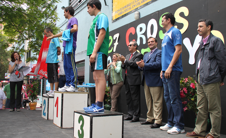 El podio del 27 Cross San Pelayo