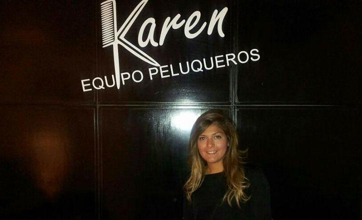 Karen Arias, peluquera