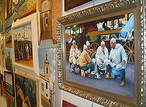 Detalle de trabajos del taller de pintura