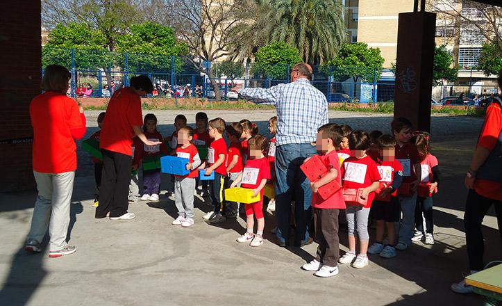 Encuentro de atletismo en el colegio Valdés Leal