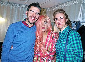 Alfonso Herrero con Lady Gaga