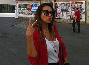 Erika Peña en las Setas de la Encarnación