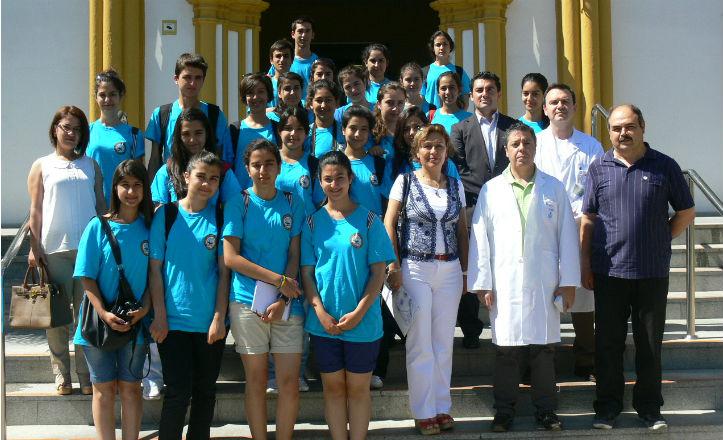 Estudiantes turcos en el San Juan de Dios