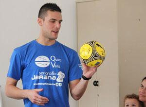 Roberto «Chico», satisfecho tras el I Clinic de Porteros de fútbol sala en Triana