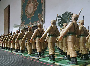 Detalle de la exposición de soldaditos