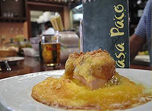 Tapa de cebollitas de Casa Paco