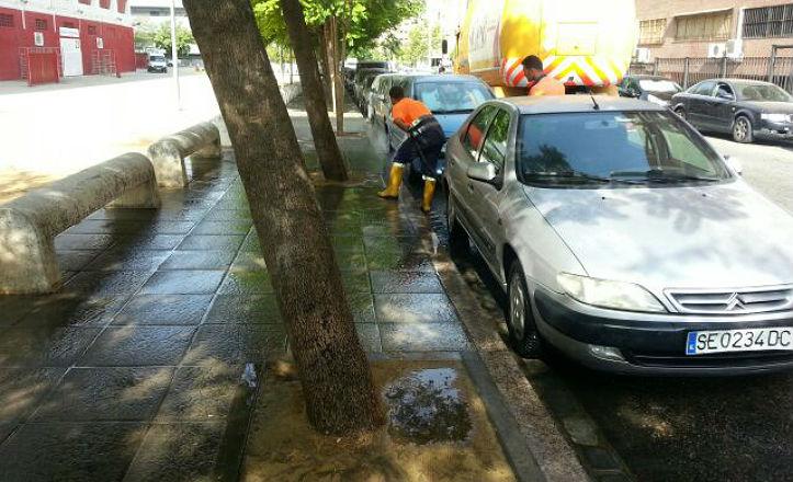 Limpieza en las inmediaciones de Luis Arenas