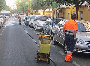 Lipasam baldea las calles del distrito Norte