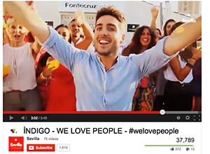 Captura del videoclip de Indigo