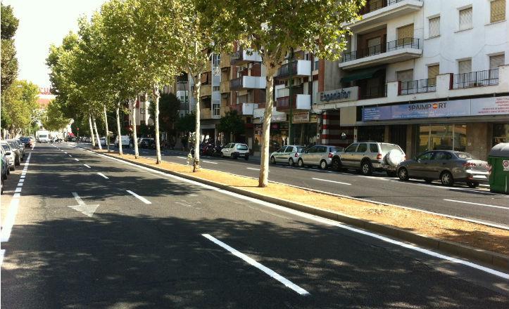 Nueva imagen de la avenida Cruz del Campo