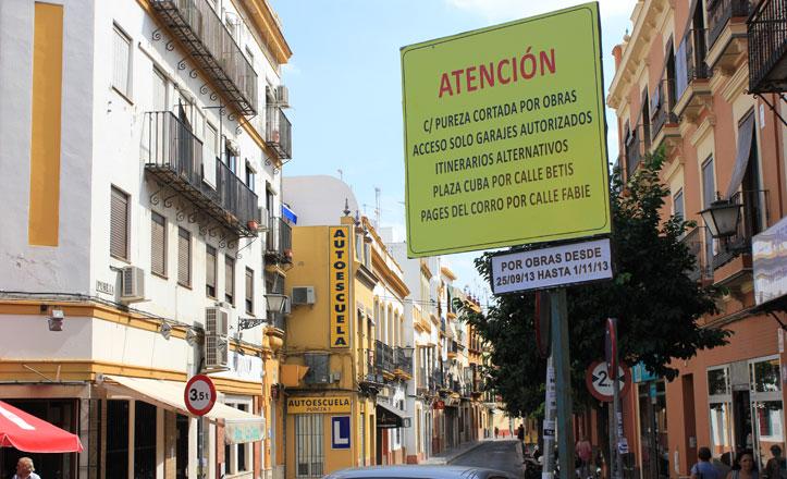 La calle Pureza se cerrará al tráfico durante las obras de repavimentación