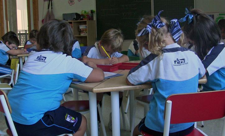 Clase de infantil del colegio Portaceli