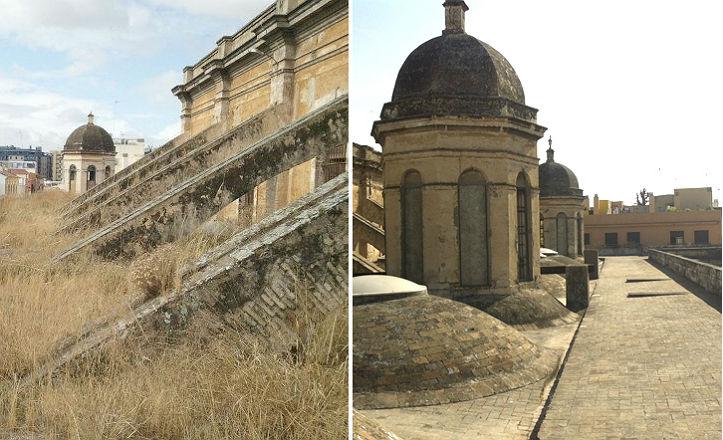 El antes y el después de las cubiertas de la Fábrica de Artillería