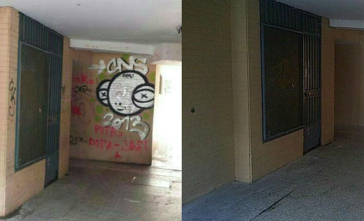 Antes y después de la barriada de La Paz