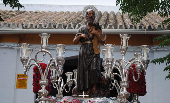 San Jerónimo procesionó por las calles de su barrio