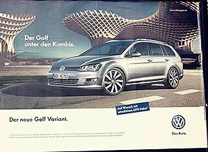 Setas en un anuncio de coches