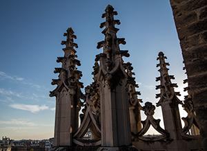 Un detalle de las cubiertas de la catedral