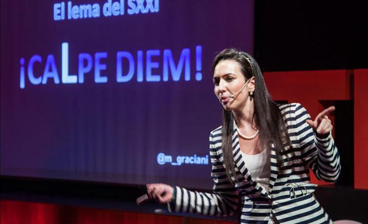 La trianera María Graciani difunde su obra en Chile