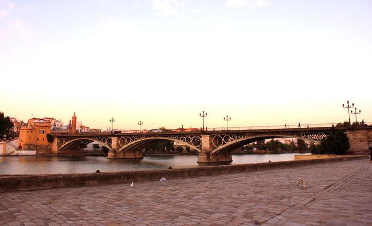 Más de un centenar de personas tejerá el puente de Triana