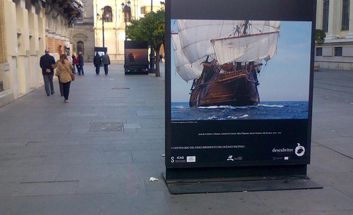 Exposición con motivo del V centenario del descubrimiento del Pacífico en la Avenida