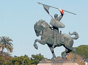 El monumento al Cid en Sevilla