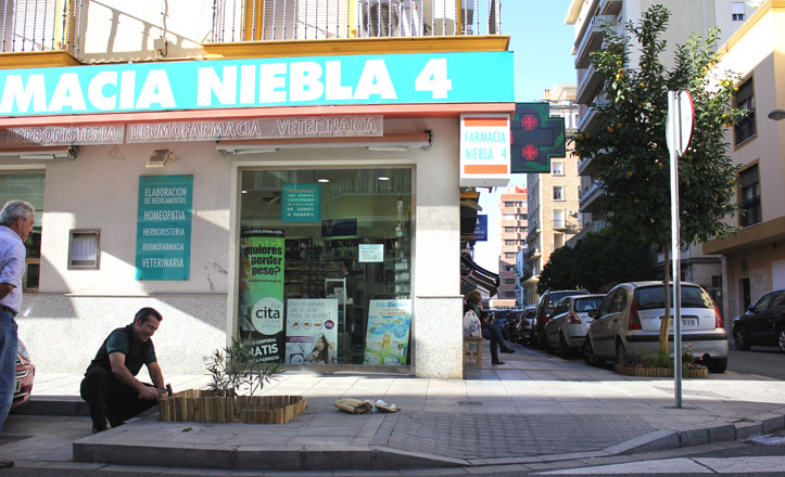 Una farmacia con vistas neoyorkinas en la calle Niebla