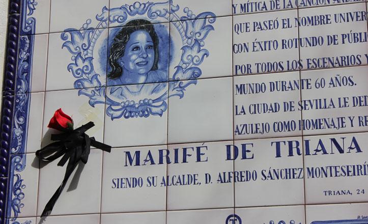Las calles que podrían rotularse como Marifé de Triana