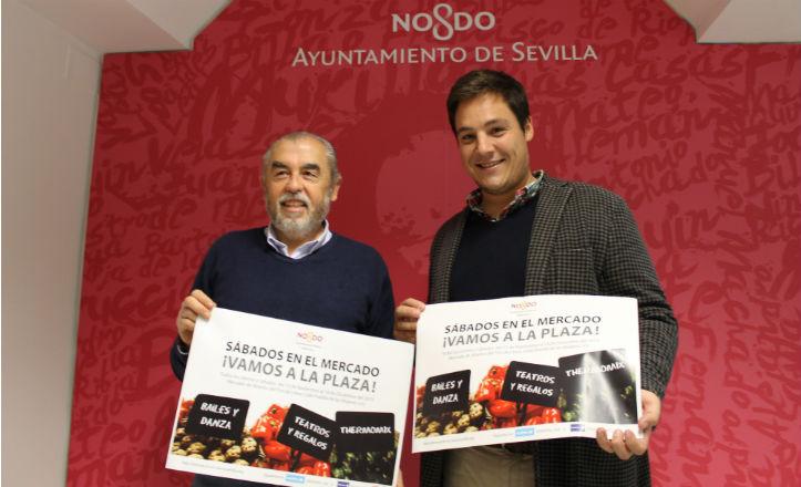 José Luis García y Francisco Ávila en la presentación de Los sábados en el mercado