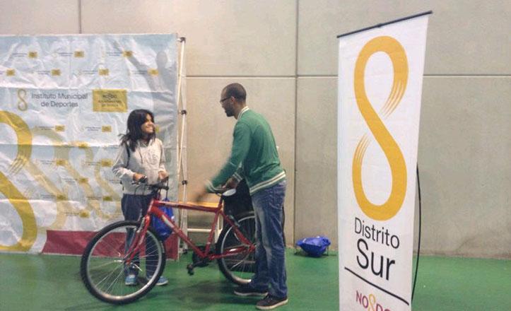 «La bici va al cole» en el Distrito Sur