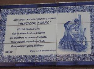 Matilde Coral ya tiene su plaza en Triana