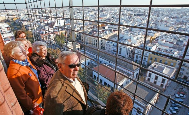 Vista de Sevilla desde la Torre de los Perdigones