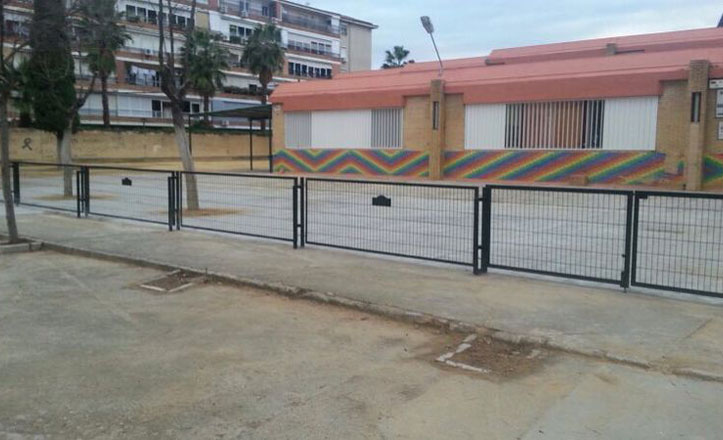 Finalizan las obras del nuevo patio de Infantil del Benjumea Burín