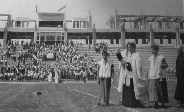 Inauguración Ramón Sánchez Pizjuán en el año 1958