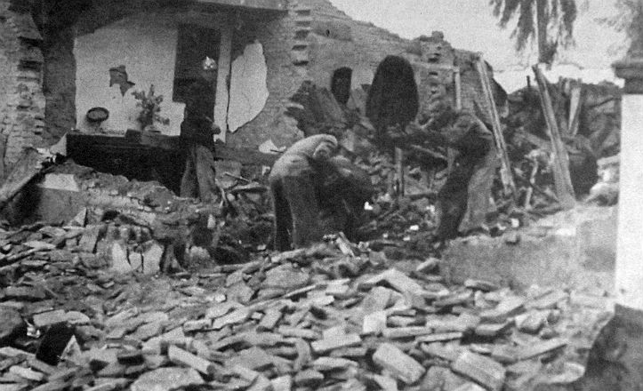 Resultados tras el estadillo del polvorín de Santa Bárbara en el año 1941