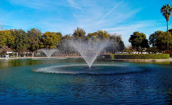 El Parque Amate contará con una red de canalización de riego automático