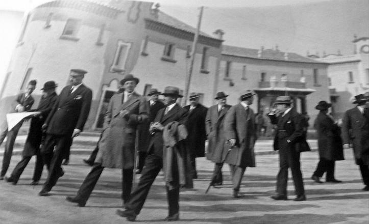 Visita del rey Alfonso XIII a la barriada de Ciudad Jardín en el año 1928