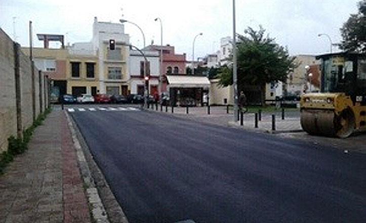 Finaliza el asfaltado de la calle Coruña
